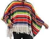 Un poncho méxicain à rayures pour adulte. Ideal pour les enterrements de vie de garçon ou de jeune fille.