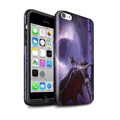 Offiziell Chris Cold Hülle / Glanz Harten Stoßfest Case für Apple iPhone 5C / Geist/Ghul Muster / Dunkle Kunst Dämon Kollektion Drachen/Finsternis
