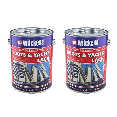 Wilckens Boots und Yachtlack, 2x 2,5 Liter, hochglänzend - farblos