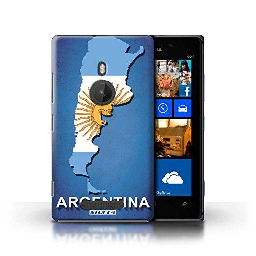 Coque de Stuff4 / Coque pour Nokia Lumia 925 / Ecosse/écossaise Design / Drapeau Pays Collection Argentine