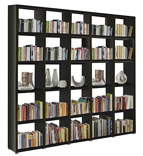 Regalsystem Raumteiler Bücherregal Standregal READY 55 Schwarz 234 x 232 x 34 cm