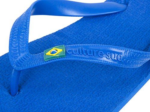 Culture sud - Tiagonavy brasil blue - Tongs claquettes Bleu moyen