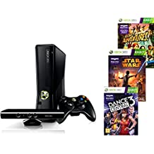 Xbox 360 250gb Kinect plus Star Wars + Dance Central 2 + Kinect Sports + Kinect Adventures
