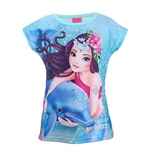 Top Model Mädchen Shirt, Blau, Größe 152, 12 Jahre
