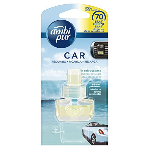 Ambi Pur Car Acqua Freschezza Naturale Deodorante per Auto con Ricarica, 7m