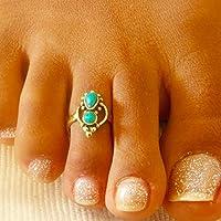 Zehenring - Messing Zehenring - verstellbarer Zehenring - Fußzubehör - Fußring - Fußschmuck - Edelstein Zehenring - Sommerschmuck - Strandschmuck - Messing Knöchelring - Messing Midi Ring - verstellbarer Fingerring