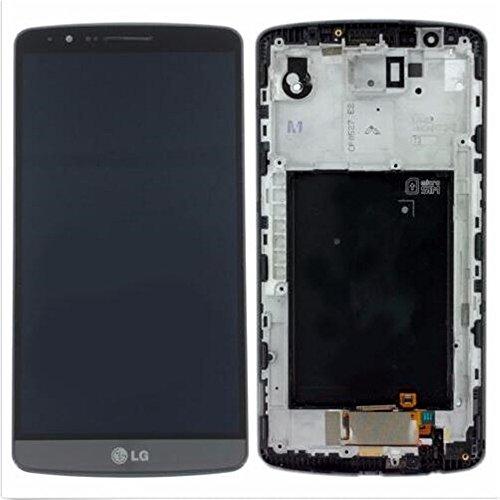 for jiujinyi LG G3 D850 D851 D855 VS985 para LCD Pantalla Táctil de Digitalización Asamblea Pantalla de Recambio (Negro + Marco)