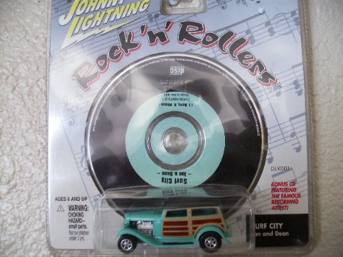 Johnny Lightning Rock N Roller Dan Fink Speedwagon with Music Cd Surf City By Jan and Dean by Johnny Lightning