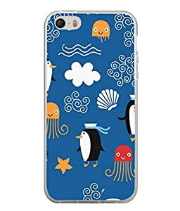 PrintVisa Designer Back Case Cover for Apple iPhone 4S (Star fish Warm breath)