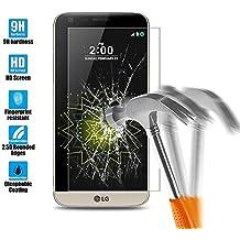 LG G5 Protection écran en Verre Trempé, Angozo Film Protection d'écran en Verre Trempé pour LG G5