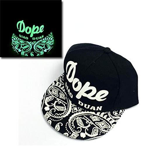 JKYJYJ Green Glow Dark Snapback Caps Kleine SterneHip Hop Fluoreszierende Baseballmütze Lässige Hüte Für Frauen Männer 302