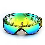 GAGA MILANO Copozz Skibrille Snowboard Brille Doppel-Objektiv UV-Schutz Anti-Fog Skibrille Für Damen Und Herren Jungen Und Mädchen Schwarz