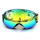 GaGa MILANO GAGA MILANOGAGADE000006, GANZTON Skibrille Snowboard Brille Doppel-Objektiv UV-Schutz Anti-Fog Skibrille Für Damen Und Herren Jungen Und Mädchen Schwarz