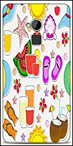 Snoogg Abstract Summer Background Designer Protective Back Case Cover For HTC One-Max