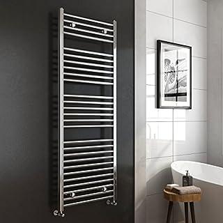 iBathUK 1600 x 600 Premium Straight Heated Towel Rail Chrome Bathroom Radiator - All Sizes