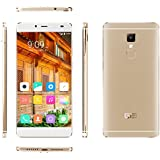"[Elephone Official Store] Elephone S3 Lite 4G Lte- Frame-Menos Smartphone libre Android 5.1(pantalla 5.2"", cámara 13 Mp, 16 GB ROM, Quad-Core MTK6735 1.3 GHz, 2GB RAM) Oro"