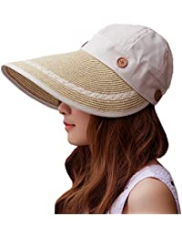 Sidiou Group Sombrero de vaquero vacío vacía del verano con el sombrero de  paja plegable del cafcf35b68a