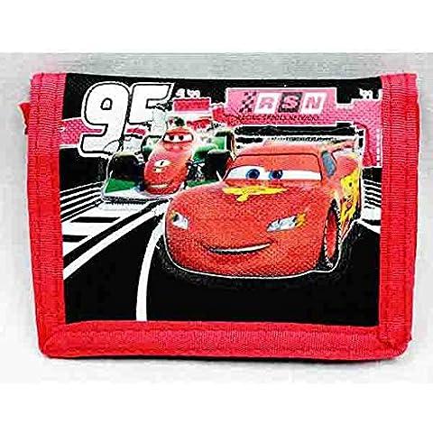Portafoglio Trifold-Disney Cars Saetta McQueen, confezione regalo ufficiale a03781 Toys, per bambino - Tri Fold Zaino