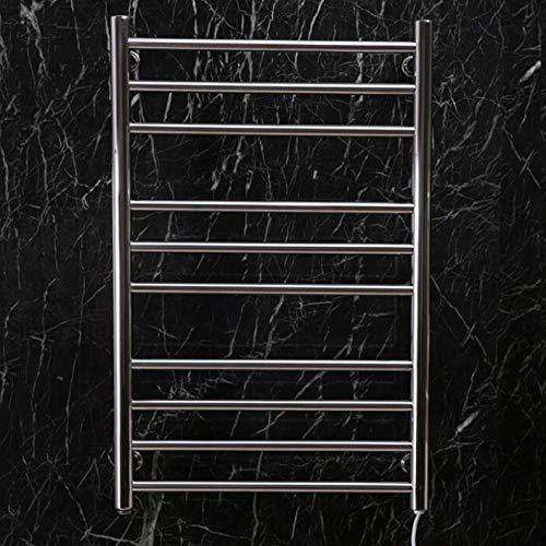 HUIJIN1 Drahtgebratene, beheizte Handtuchschiene, beheizte, an der Wand montierte polierte Edelstahl-Warmtuchregal, 88 Watt, 10 Badezimmerzähler,950 * 500mm