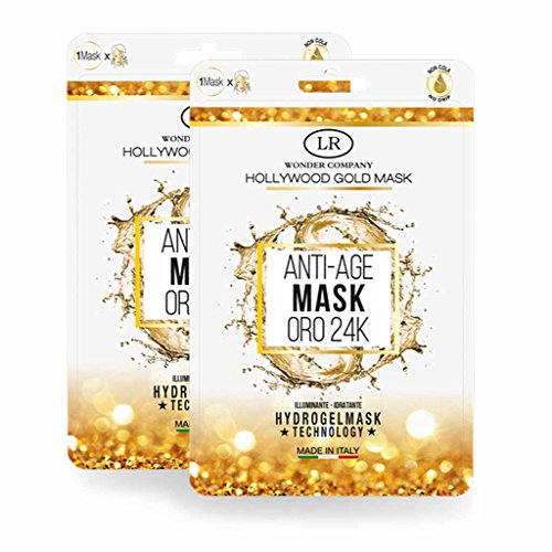 LR Wonder Company Hollywood Gold Mask Anti-Age Gold 24 K 2 maschere