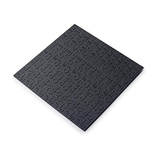 Zeal termoresistente Antiscivolo sottopentola sottopentola, Silicone, Nero, 19.4x 19.4x 19.4cm
