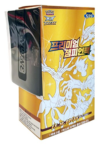 [CP4:Premium Champion Pack ] Pokemon Karte XY 100 Karten in 1 Kasten + 3pcs Premium Card Sleeve Koreanisch Ver TCG