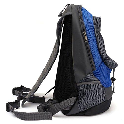 Imagen de yihya portátil pecho delantero pet carrier bag bolso hombros de malla bolsa pequeña perro gato perrito externo viajar  para mascotas head out  azul tamaño s 35*30*14  alternativa