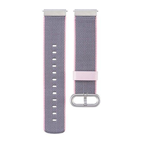XIHAMA Universal 20mm Nylon Watch Band , Ersatz Zubehör Sport Armband für Samsung Gear S2 Classic /motorola360 2 nd/ticwatch 2 nd/Withings HR 40 mm Armbanduhr, violett (Seiko-uhr-handgelenk-band-pins)