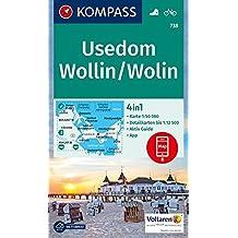 Usedom, Wollin/Wolin: 4in1 Wanderkarte 1:50000 mit Aktiv Guide und Detailkarten inklusive Karte zur offline Verwendung in der KOMPASS-App. Fahrradfahren. (KOMPASS-Wanderkarten, Band 738)