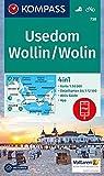 Usedom, Wollin/Wolin: 4in1 Wanderkarte 1:50000 mit Aktiv Guide und Detailkarten inklusive Karte zur offline Verwendung in der KOMPASS-App. Fahrradfahren. (KOMPASS-Wanderkarten, Band 738) -