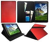 Sweet Tech Huawei MediaPad M5 10/M5 10 Pro Tablet 10.8 Zoll Rot Universal Wallet Schutzhülle Folio (10-11 Zoll