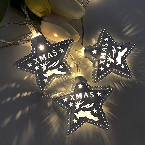 Snakell Weihnachten Pentagramm Lichterkette 1,5M Party Geburtstag Karneval Festival Innen draussen Türöffnung Dekorativer String Christmas Licht Party Stimmungslichter DIY Deko Pentagramm Lampshade