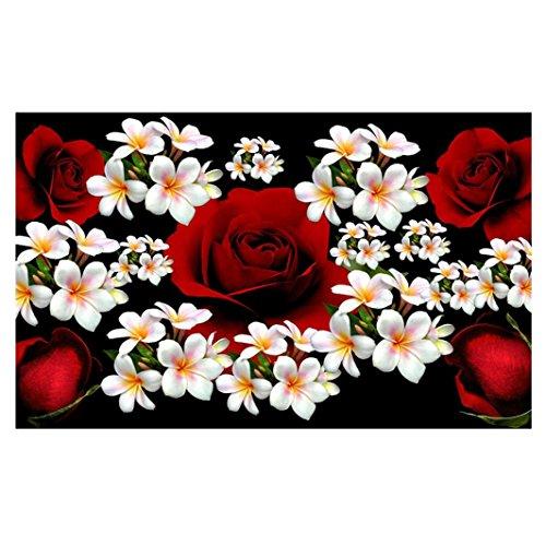 Igemy 5D Blume Diamant Strass geklebt Stickerei Malerei Kreuzstich Home Decor (J) (Pferd H/j Geschenke)