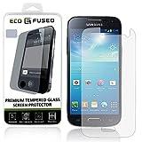 Protection d'Écran Premium en Verre Trempé pour Samsung Galaxy S4 Mini - Vitre de Protection avec Revêtement Oléophobe Compatible avec Samsung Galaxy S4 MINI - Anti-Empreinte et Anti-Rayures - Totale Clarté et Fonctionnalité Écran Tactile - 1 Chiffon de Nettoyage en Micro-Fibre ECO-FUSED inclus (paquet de 1)