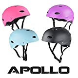 Apollo Skate-Helm / Fahrradhelm - My Hood - verstellbarer Skateboard, Scooter, BMX-Helm, mit Drehrad-Anpassung geeignet für Kinder, Erwachsene, in verschiedenen Größen und Farben