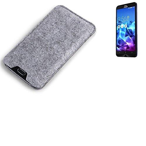 K-S-Trade Filz Schutz Hülle für Asus ZenFone 2 Deluxe Schutzhülle Filztasche Filz Tasche Case Sleeve Handyhülle Filzhülle grau