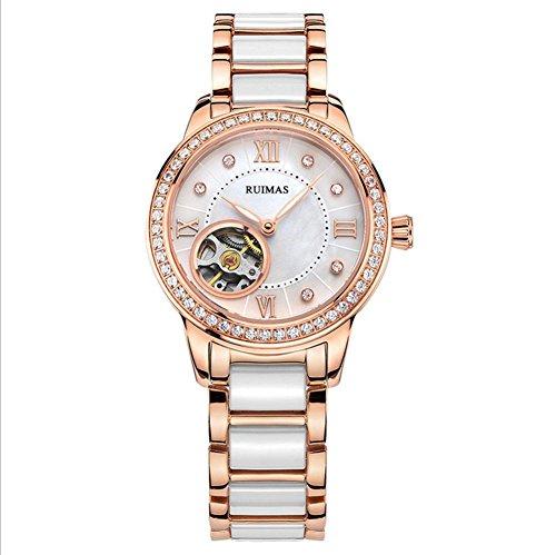 Tavolo femminile in ceramica Signore Guarda meccanico a carica automatica orologi moda orologi donne , rose gold - Rose Rose Gold Pocket Watch