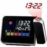 Yesorno Digital LCD de proyeccion electronica a pie de cama escritorio reloj alarma snooze Con 3,5 mm Adaptador de corriente AC Cargador 5V 1A EU