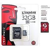 MaxFlash-Tarjeta de memoria microSD para Tomtom Start 20 M-Kingston 32 GB, microSDHC clase 4, con adaptador para SD-chip de memoria de ampliación de memoria.