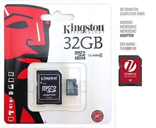 Speicherkarte für Asus n551jx-cn157h, Notebook–Kingston 32GB microSDHC Class 4inkl. SD Adapter–Chip Speicher-, Speichererweiterung.