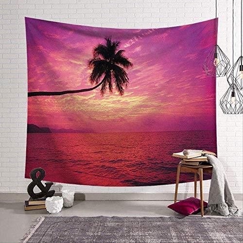 Forest Tapestries House Water Plant Ocean Wall Hanging Beach 3D Hochzeits-landschaftsdekor Decke Rezept Polyester 150cm*150cm