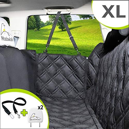 Meadowlark® XL Hundedecke für Auto Rückbank. Wasserdicht! Komplettschutz Autoschondecke für Hunde, Wasserfester Rücksitz Sitzbezug, ideale Autodecke für Haustiere, Schonbezüge Decke + 2 Geschenke