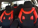 Sitzbezüge k-maniac | Universal schwarz-rot | Autositzbezüge Set Vordersitze | Autozubehör Innenraum | Auto Zubehör für Frauen und Männer | V130510 | Kfz Tuning | Sitzbezug | Sitzschoner
