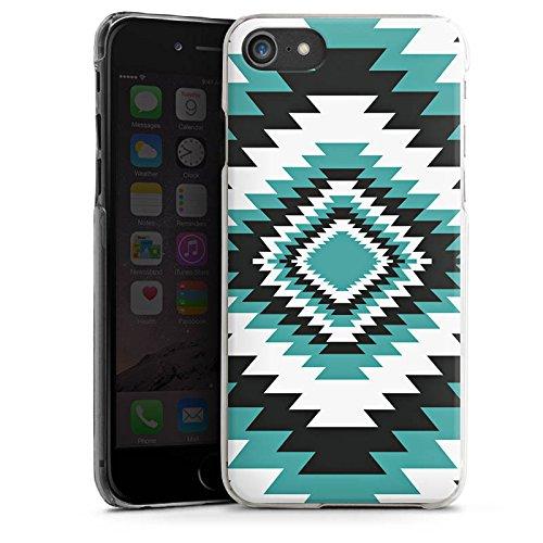 Apple iPhone X Silikon Hülle Case Schutzhülle Ethno Azteken Zick-Zack Hard Case transparent