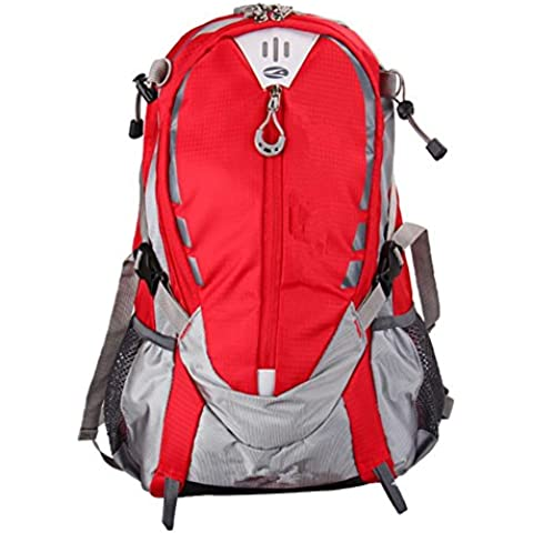 Impermeabile bici zaino trekking, Red