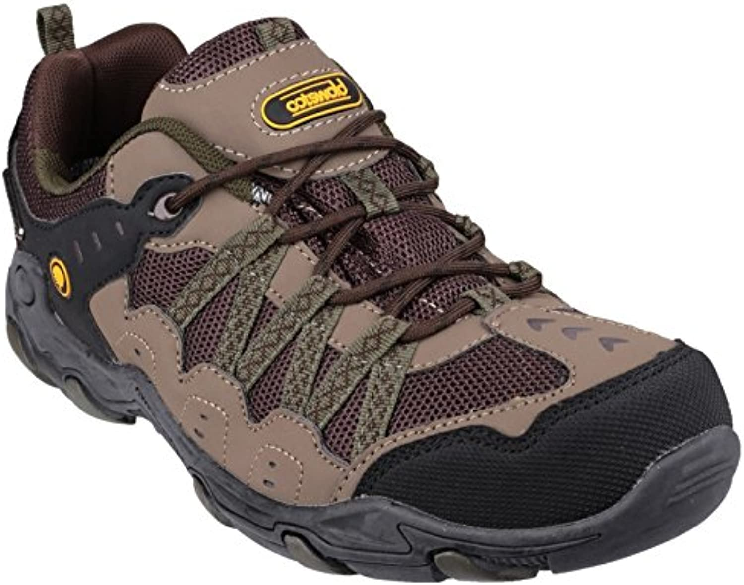 Cotswold Mens Cooper Lace Up Leather Walking Hiking Trainer Brown