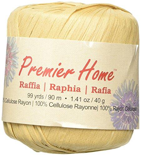 premier-fils-solides-raphia-yarn-almond-dautres-multicolore