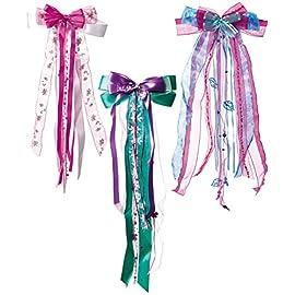alles-meinede-GmbH-groe-3-D-Schleife-ca-23-cm-breit-u-50-cm-lang-fr-Mdchen-zB-Schultten-Zuckertten-Geschenke-rosa-pink-Creme-wei-lila-grn-Schulttenschlei