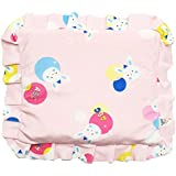 GoodStart Square Imported Cotton Made Premium Newborn Baby Head Shaping Pillow With Mustard Seeds/baby Rai Pillow/Rai Seed Pouch & Baby Neck Support Pillow In Animal & Cartoon Print, With Detachable Seeds Bag For 0-1 Years In Pink
