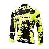 Uglyfrog Männer Fahrradtrikot Fahrradbekleidung Atmungsaktiv Fahrrad Trikot Langarm